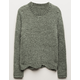 SKY AND SPARROW Chenille Scallop Girls Sweater