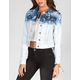 YMI Acid Wash Dip Dye Womens Denim Jacket