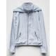 WHITE FAWN Zip Front Girls Windbreaker Jacket