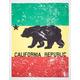 Rasta CA Bear Tapestry