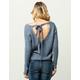 WOVEN HEART Tie Back Womens Sweater