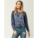 SKY AND SPARROW Tie Dye Womens Suede Sweatshirt