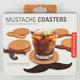 KIKKERLAND Mustache Coasters