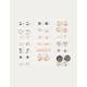 FULL TILT 20 Pairs Love & Locket Stud Earrings