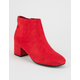 CITY CLASSIFIED Covered Heel Womens Booties
