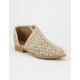 QUPID Open Side Perforated Womens Booties