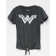 Wonder Woman Tie Front Girls Tee