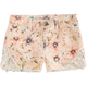 HIPPIE LAUNDRY Floral Crochet Girls Denim Shorts