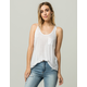 DESTINED White Womens Pocket Tank