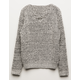 WOVEN HEART Marled Lace Up Girls Sweater