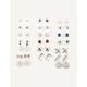 FULL TILT 20 Pairs Star & Diamond Stud Earrings