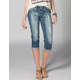 YMI Roll Cuff Womens Denim Capris