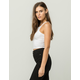BOZZOLO Wide Ribbed Womens Crop Tank