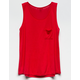BOZZOLO Red Girls Pocket Tank