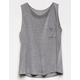 BOZZOLO Grey Girls Pocket Tank