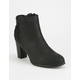 FREE REIGN Lace Back Womens Booties