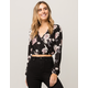 IVY & MAIN Floral Surplice Womens Crop Top