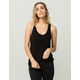 DESTINED Black Womens Pocket Tank