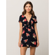IVY & MAIN Tie Front Fit N Flare Dress