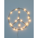 Wire LED Peace Sign