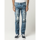 RSQ London Moto Mens Skinny Ripped Jeans