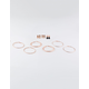 FULL TILT 9 Pairs Diamond Stud And Hoop Earrings