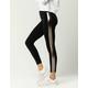 WHITE FAWN Side Stripe Womens Fleece Leggings