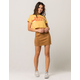 IVY & MAIN Faux Suede Mini Skirt