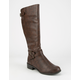 SODA Tall Buckle Womens Riding Boots