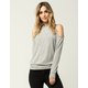 OTHERS FOLLOW Cozy Womens Cold Shoulder Sweater