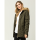 SKY AND SPARROW Faux Fur Womens Parka Jacket