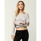 SOCIALITE Embroidered Rose Womens Sweatshirt