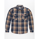 BRIXTON x Coors Bowery Mens Flannel Shirt