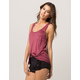 BOZZOLO Mauve Womens Pocket Tank