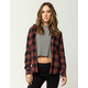 ELEMENT Mellow Me Womens Hooded Flannel Shirt