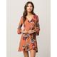SKY AND SPARROW Floral Wrap Dress