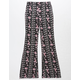WHITE FAWN Floral Diamond Girls Flare Pants