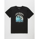 PINK DOLPHIN Waves Over Flames Boys T-Shirt
