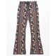 WHITE FAWN Floral Wallpaper Girls Flare Pants