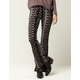 SKY AND SPARROW Linear Paisley Womens Flare Pants