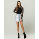 IVY & MAIN Crushed Velvet Skater Skirt
