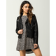 CI SONO Fur Lined Womens Faux Leather Jacket