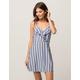 SOCIALITE Stripe Lace Back Dress