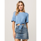 IVY & MAIN Ruffle Tie Front Womens Top