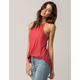 BOZZOLO Red High Neck Womens Tank