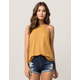BOZZOLO Mustard High Neck Womens Tank