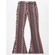 WHITE FAWN Tropical Floral Girls Flare Pants