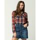 FULL TILT Rust Womens Plaid Shirt