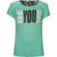 FULL TILT Be Youtiful Lace Back Girls Tee
