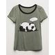 WHITE FAWN Zzz Panda Girls Tee